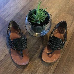 DV by Dolce Vita Black/silver sandals 6.5
